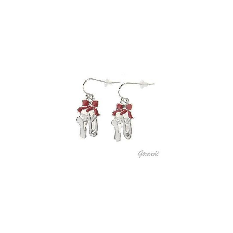 Boucles d'oreilles chaussons rouge