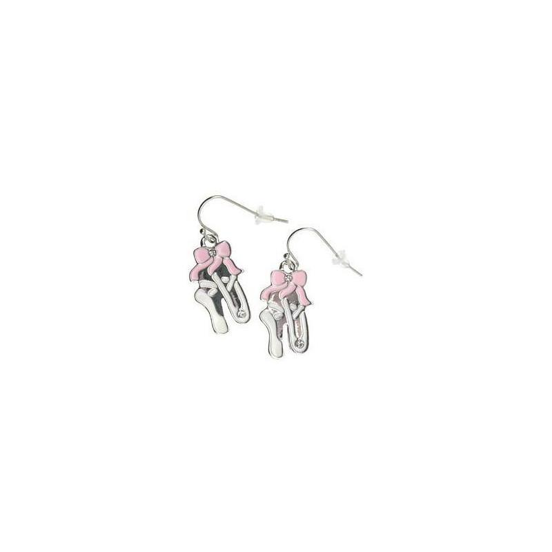 Boucles d'oreilles chaussons rose