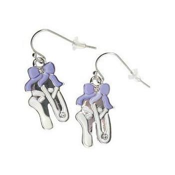 Boucles d'oreilles chaussons lilas