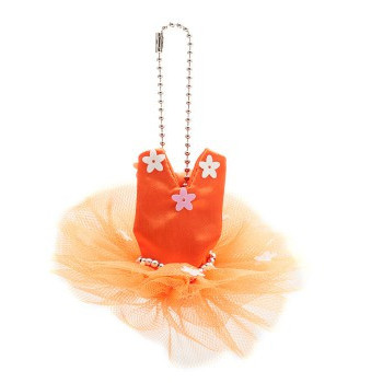 Mini-tutu porte-clés Katz orange
