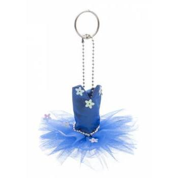 Mini-tutu porte-clés Katz bleu royal