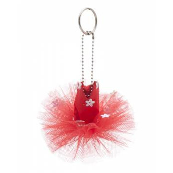 Mini-tutu porte-clés Katz rouge