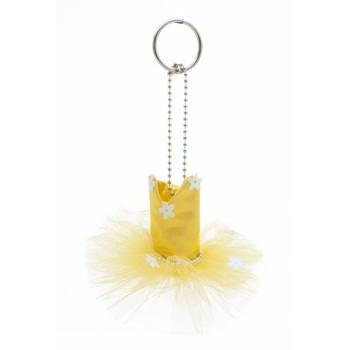 Mini-tutu porte-clés Katz jaune