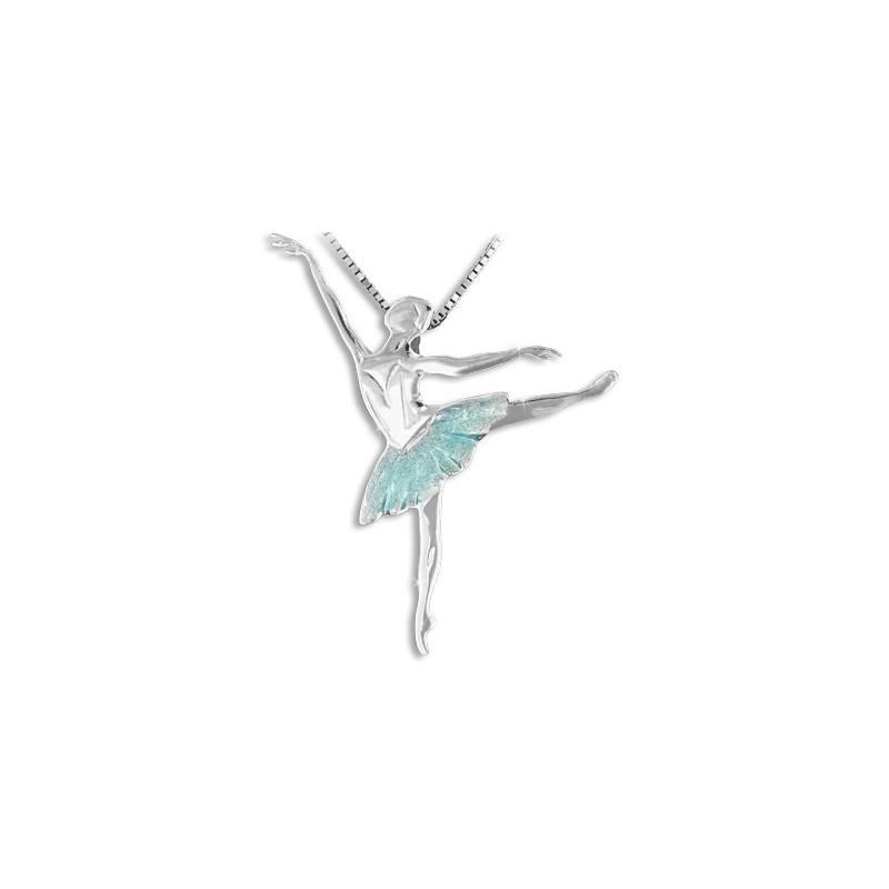 """Collier et pendentif Mikelart """"arabesque """"aquamarine"""