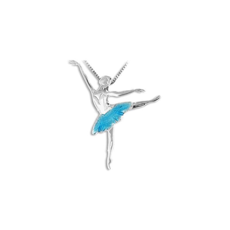 """Collier et pendentif Mikelart """"arabesque """" turquoise"""