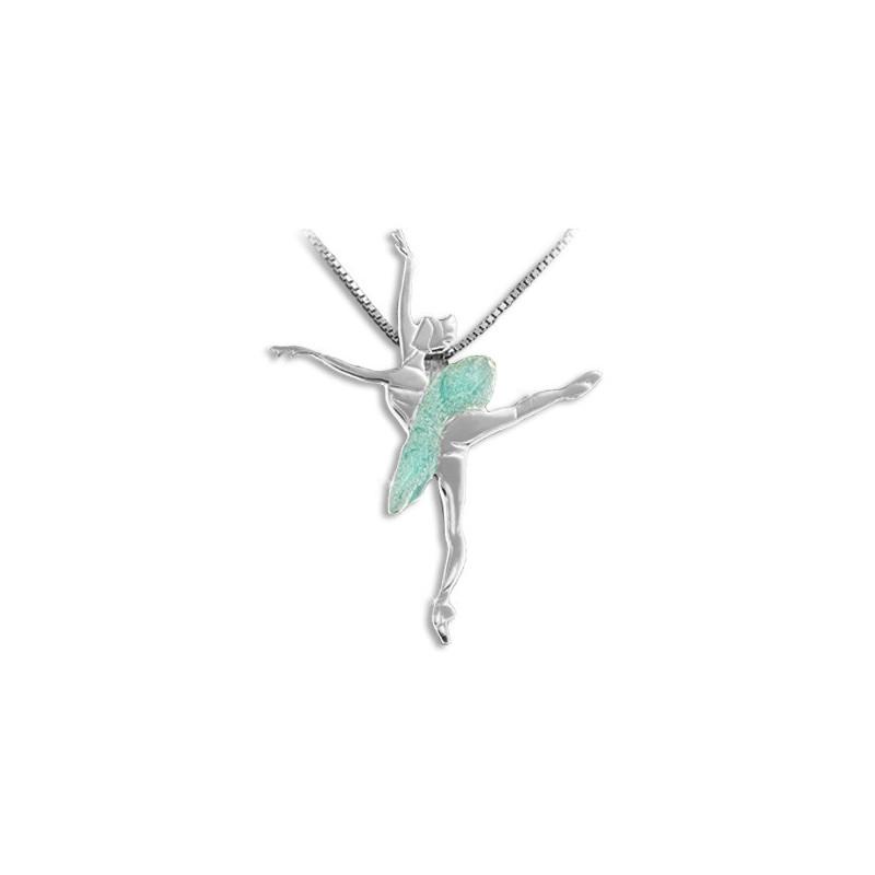 "Collier et pendentif Mikelart ""le Corsaire"" aquamarine"