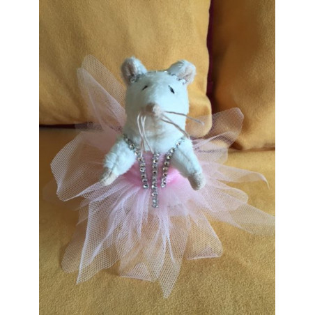 Petite souris en tutu rose