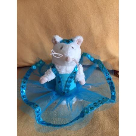 Petite souris en tutu bleu