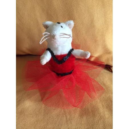 Petite souris en tutu rouge
