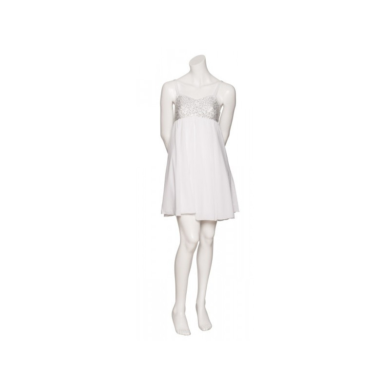 Robe à sequins Katz blanc