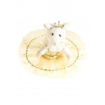 Petite souris tutu doré