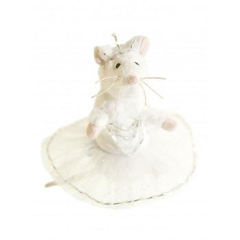 Petite souris tutu argenté