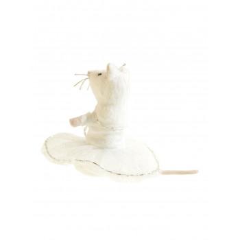 Petite souris en tutu argenté