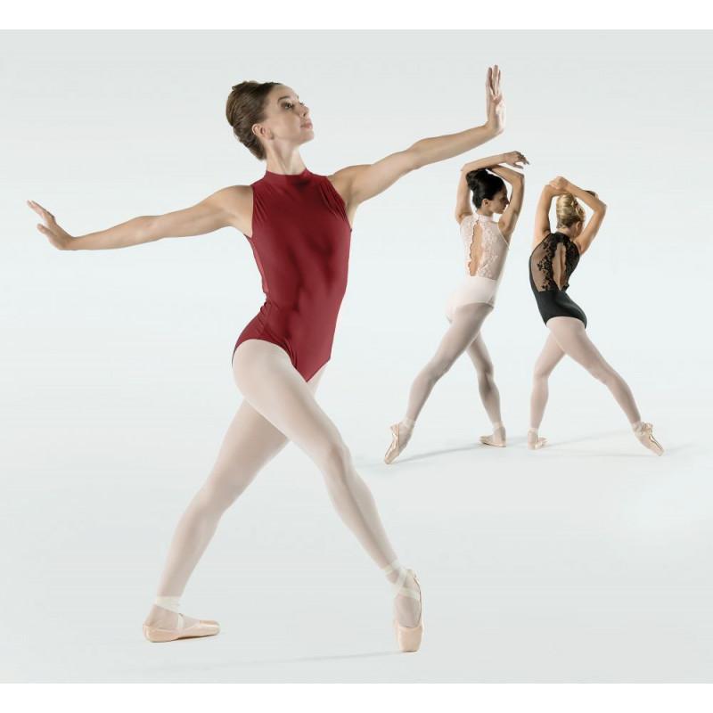 Justaucorps Ballet Rosa Amélie bordeaux, poudré et noir
