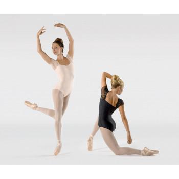 Justaucorps Ballet Rosa Justine noir et poudré