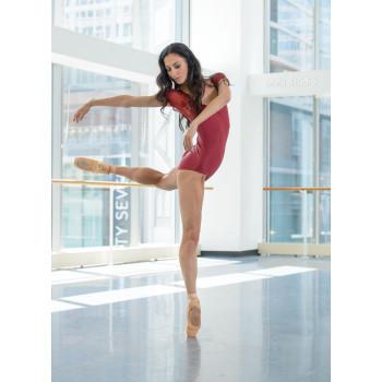 Justaucorps Ballet Rosa Justine bordeaux