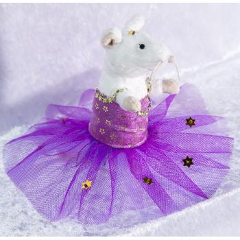 Petite souris en tutu lilas