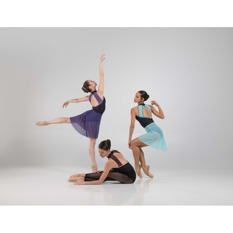 Jupette Ballet Rosa Christiane prune et acqua
