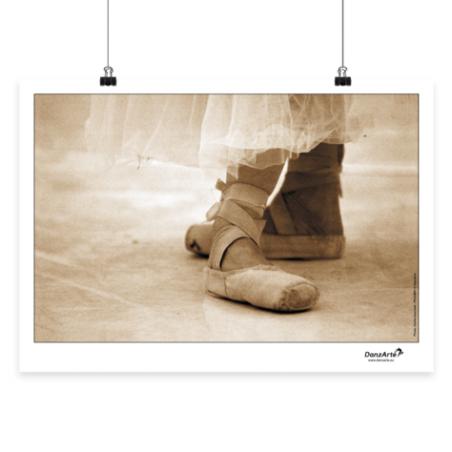 Affiche A3 DanzArte pointe shoes