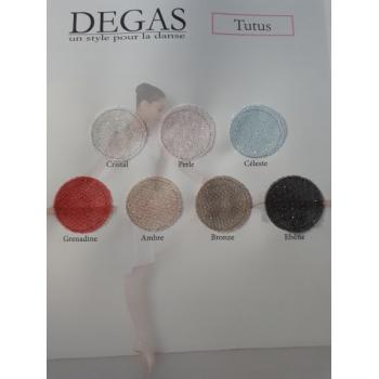 Bas de tutu court Degas pailletté couleurs