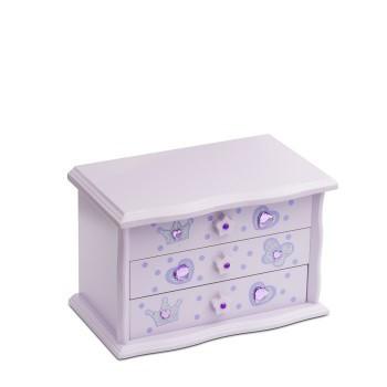 Boîte à bijoux Katz lilas