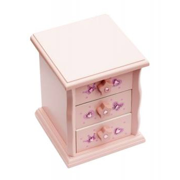 Boîte à bijoux Katz rose