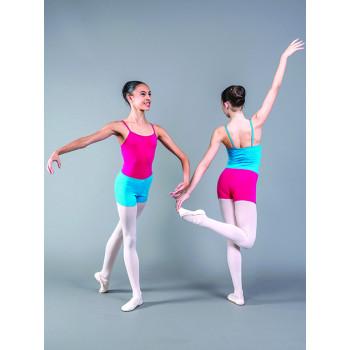 Short Ballet Rosa Elia doux et confortable à porter sur un justaucorps