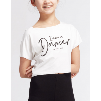 Tee-shirt Temps Danse Agile I Am blanc