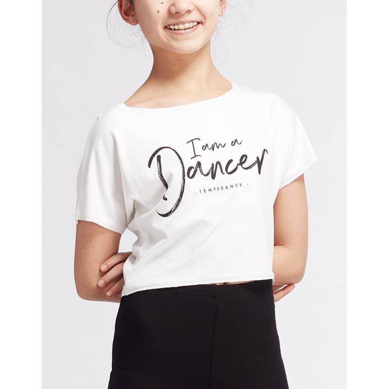 Tee-shirt Temps Danse Agile I Am blanc