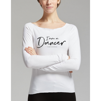 Tee-shirt Temps Danse Aman I am blanc