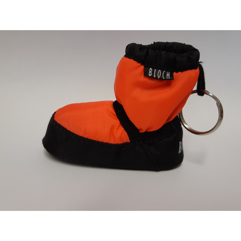 Porte-clé Bloch booties orange fluo