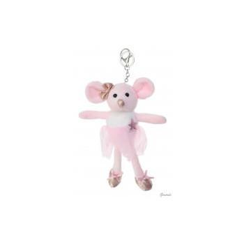 Porte-clé souris danseuse rose