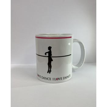"""Mug """"I love dance"""" relevé"""
