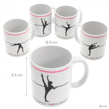 "Mug ""I love dance"" développé"