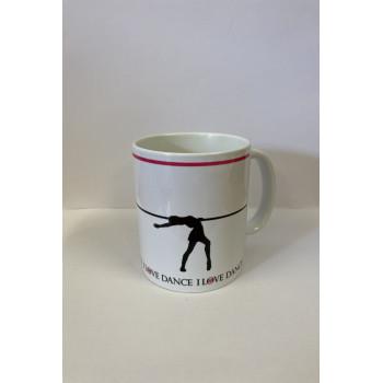"Mug ""I love dance"" cambré..."