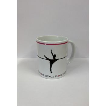 "Mug ""I love dance"" attitude..."