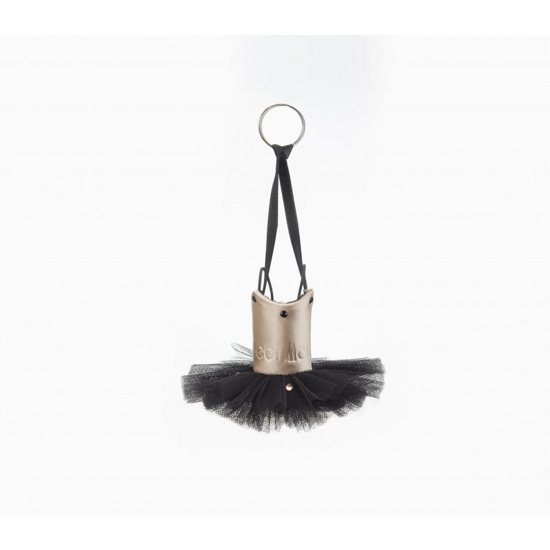Porte-clés Wear Moi noir et saumon