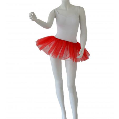 Bas de tutu court Degas rouge