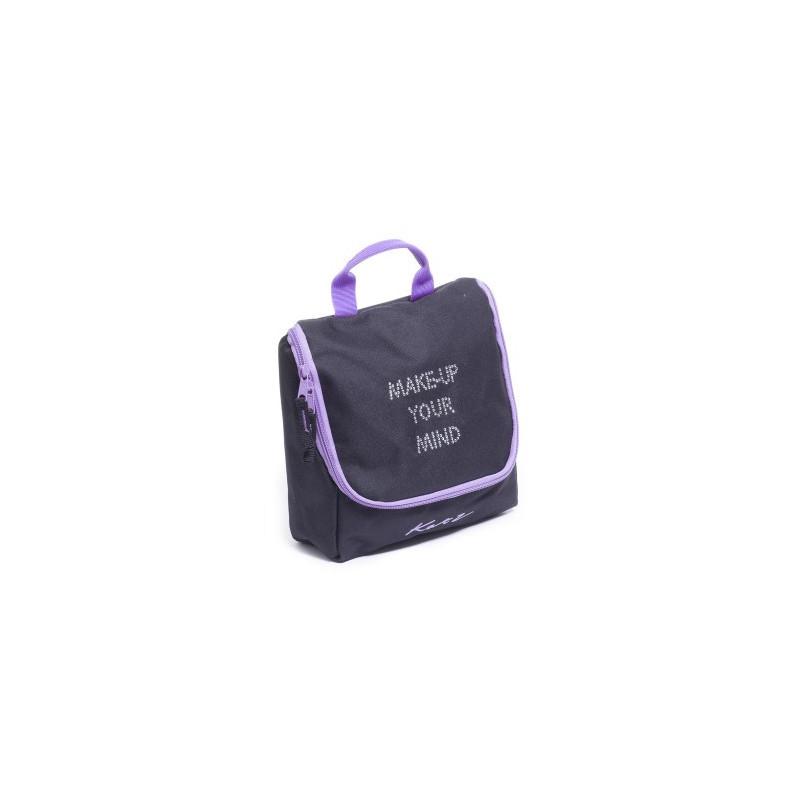 Trousse à maquillage Katz noir et violet