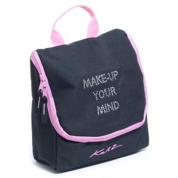 Trousse à maquillage Katz noir et rose